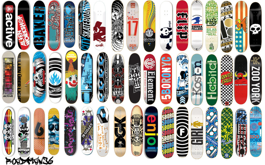 Skateboard Decks Wallpaper By Roadman36