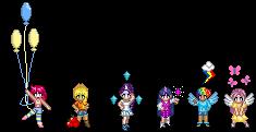 MLP: FIM Pixels - Mane Six by deuilfleur
