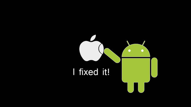 Android fixed Apple wallpaper