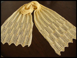 Waves of Grain Scarf by radioactive-orchid
