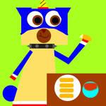 Puppycorn eats his mozzarella sticks