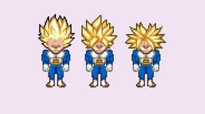 USSJ Goku Vegeta Trunks