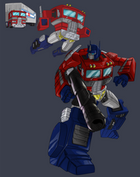 Transforming-Prime redux for t-shirt contest
