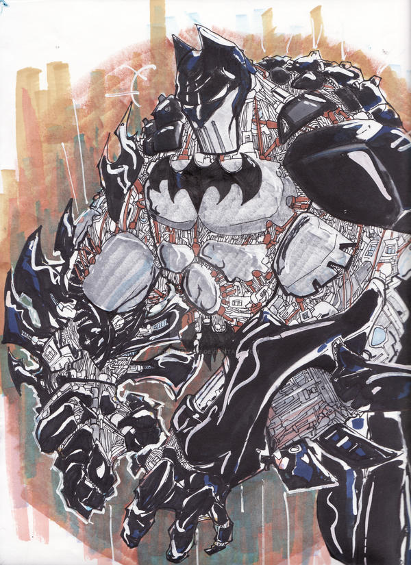 Steampunk BatBot by boricuanart