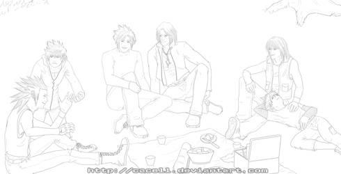 KH: Family Picnic :lineart: