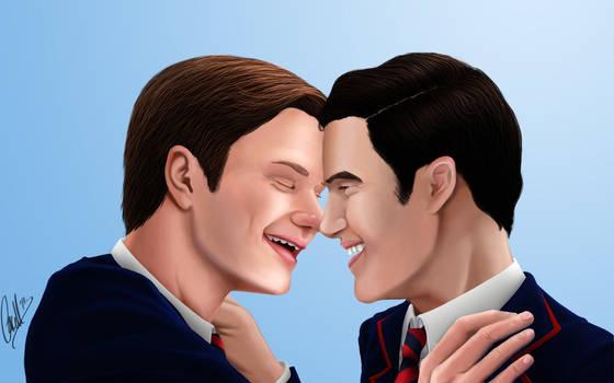 Glee: Klaine - Smile -colored-