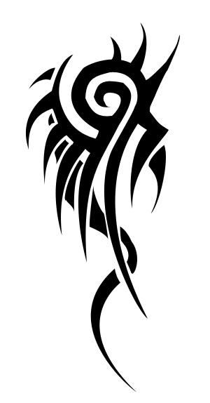 Dragon tail tribal tattoo by yotamon on deviantart for Tribal tattoo shops near me