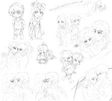 Sketch Dump - Valentines Day by TheSkullSlums