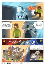 12-23 Comic - Pre Gamer Asriel by crandoii