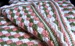 Victorian Rose Crocheted Baby Blanket