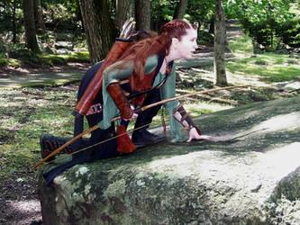 Elven Ranger--Scouting by celticbard76