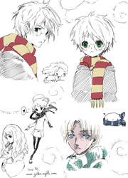 Harry Potter doodles. by inma