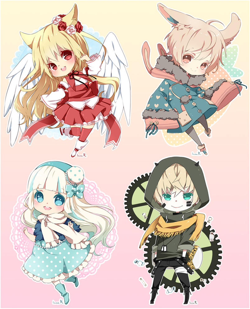 Character Design Commissions Deviantart : Chibi commission batch by inma on deviantart