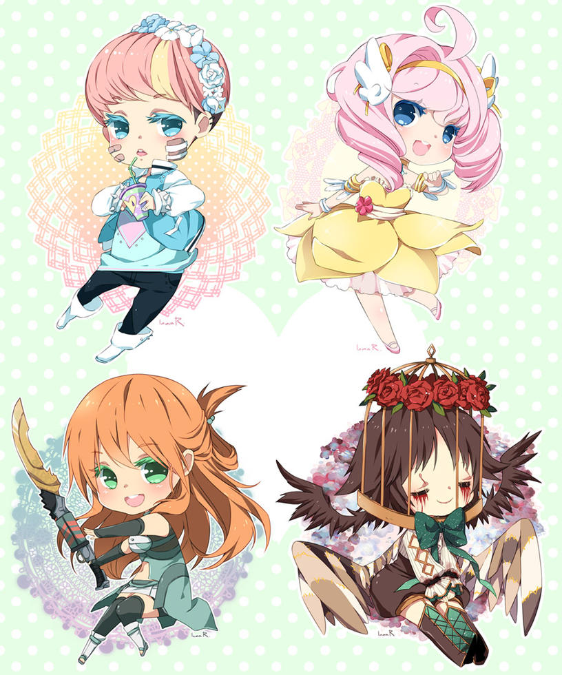 Deviantart Drawings: Chibi Commission Batch14 By Inma On DeviantArt