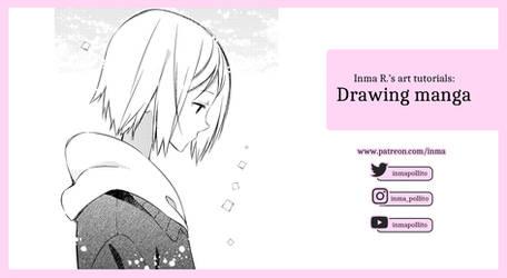 Drawing manga video tutorial.