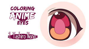 Painting anime eyes: Yashiro Nene.