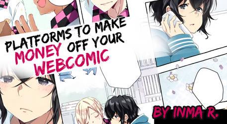 Making money off webcomics.