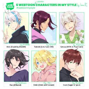 6 Webtoon charas.