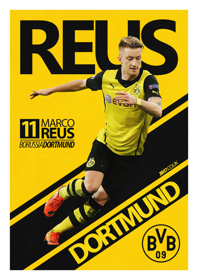 marco reus poster by jimcfc7 on deviantart
