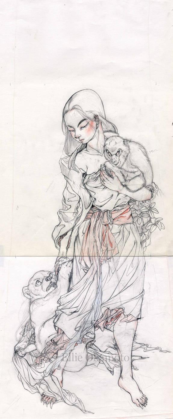 Under Drawing for 'Yamauba'