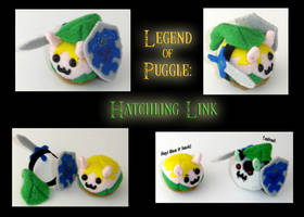 Legend of Puggle: Link Hatch by callykarishokka