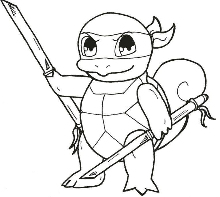 Ninja Squirtle by callykarishokka