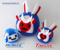 Puggleformers - G1 Tracks and Mirage Hatchlings by callykarishokka
