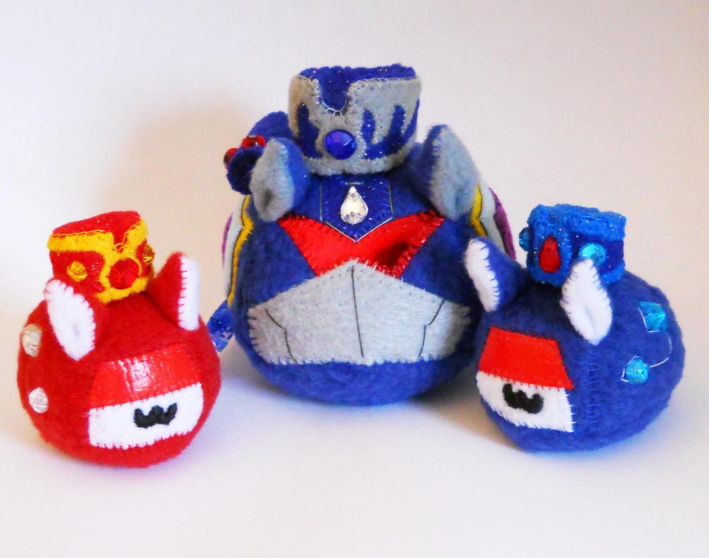 Puggleformers - Royal Soundwave Trio with Hats by callykarishokka