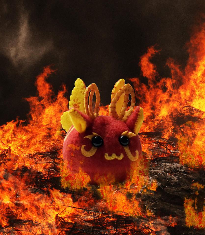 Puff Puggle - Fire Pixie Puggle by callykarishokka