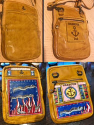 Illustrated Manuscript Bag - Before and After