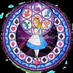 Alice - Kingdom Hearts Stain Glass