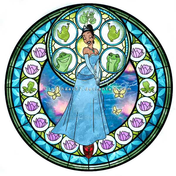 Princess Tiana - Kingdom Hearts Stain Glass by reginaac57