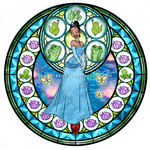 Princess Tiana - Kingdom Hearts Stain Glass