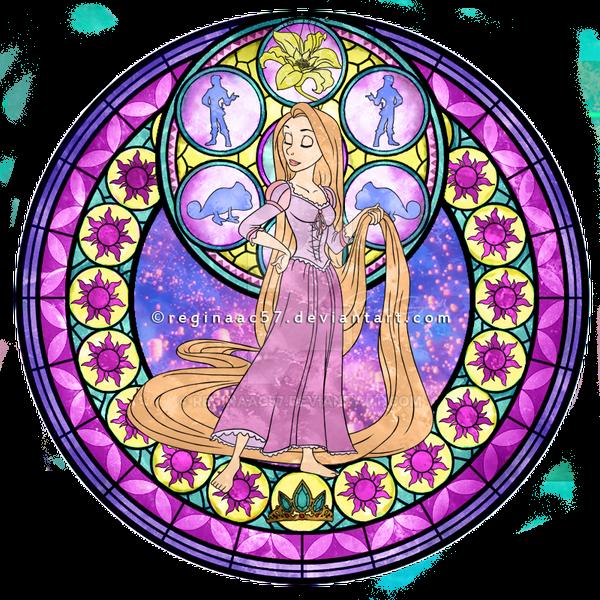 princess rapunzel kingdom hearts stain glass by reginaac57 on deviantart. Black Bedroom Furniture Sets. Home Design Ideas