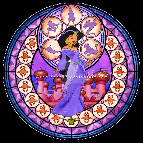 Princess Jasmine - Kingdom Hearts Stain Glass by reginaac57