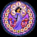 Princess Jasmine - Kingdom Hearts Stain Glass