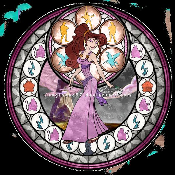 Meg (Megara) - Kingdom Hearts Stain Glass by reginaac57