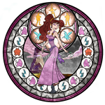 Meg (Megara) - Kingdom Hearts Stain Glass