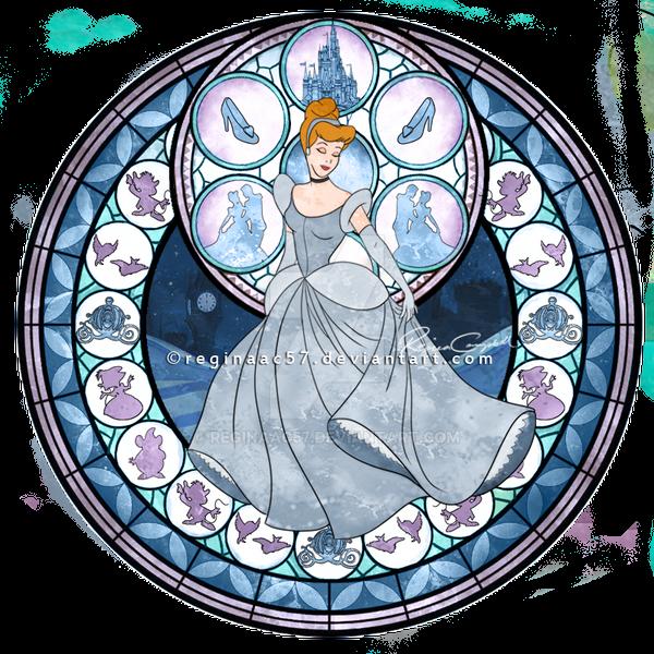 princess cinderella kingdom hearts stain glass by reginaac57 on deviantart. Black Bedroom Furniture Sets. Home Design Ideas