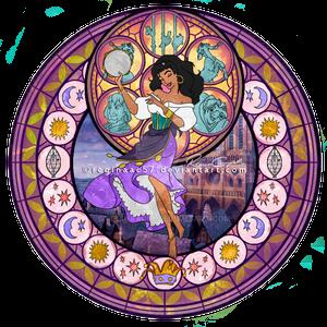 Esmeralda - Kingdom Hearts Stain Glass