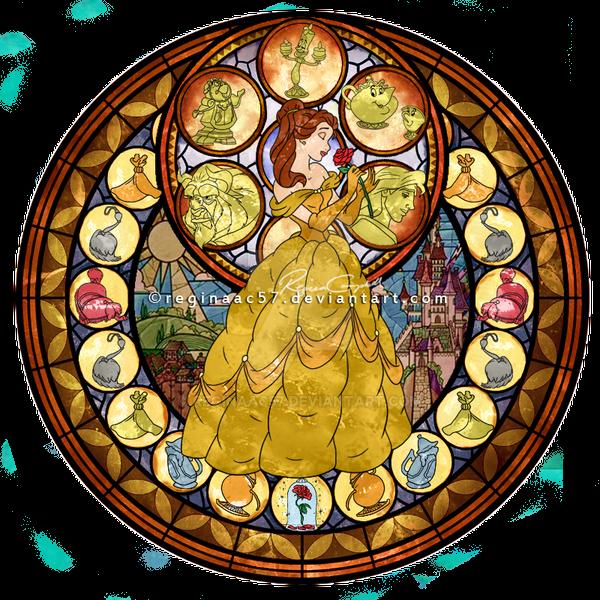 Princess Belle - Kingdom Hearts Stain Glass