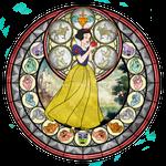 Princess Snow White - Kingdom Hearts Stain Glass