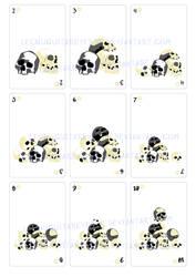 Skulls cards by LechuguitaReverde
