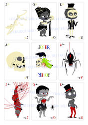 Skulls Spiders cards figures by LechuguitaReverde