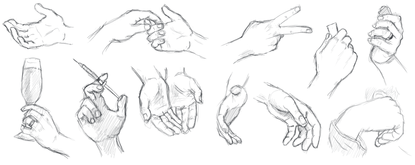 Hands study by RanSerenader