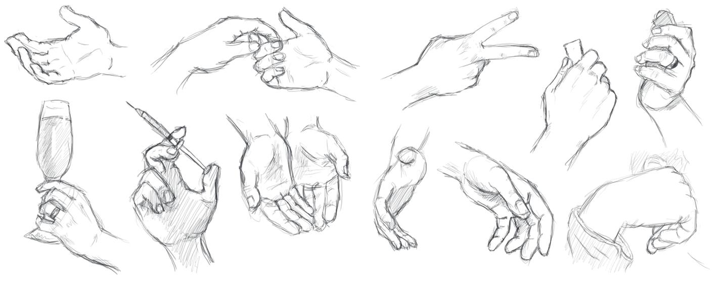 Hands Study By Ranserenader On Deviantart