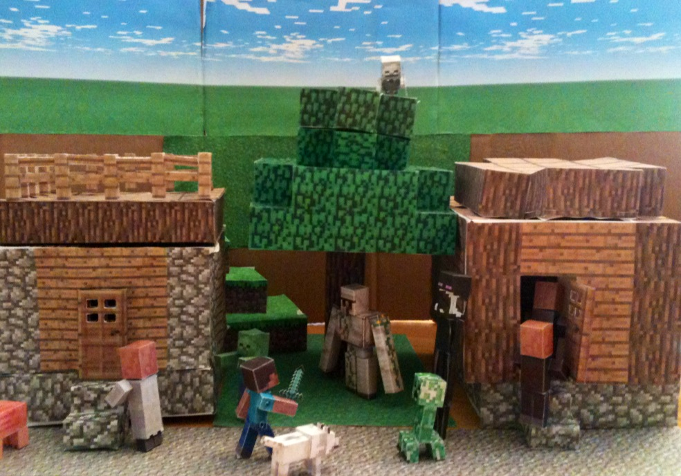 Minecraft из бумаги схемы и блоки
