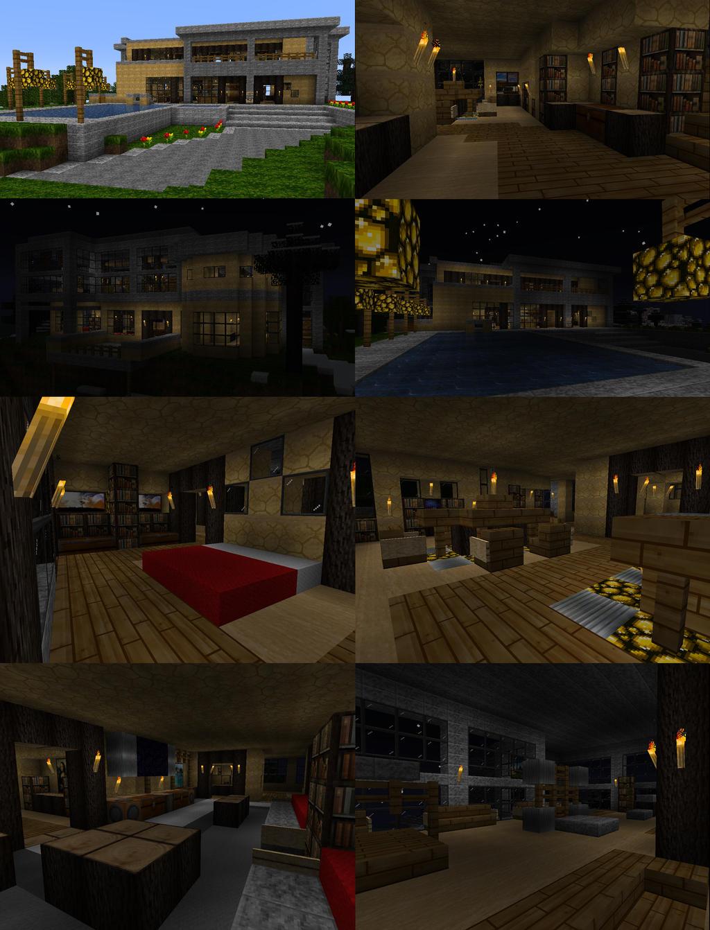 Minecraft Modern House By Chickenmobile On DeviantArt