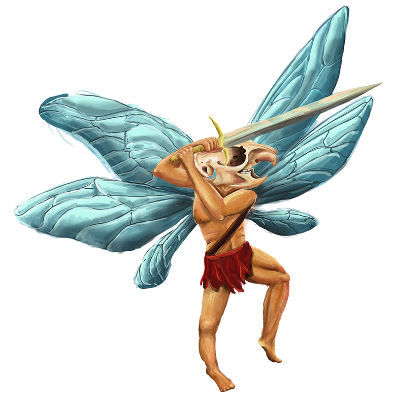 Kalen the Pixie Barbarian by chickenmobile