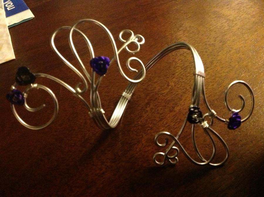 Flower wire bracelet by TaraLouiseBeddow on DeviantArt